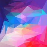 Dirigez le fond irrégulier de polygone avec un modèle triangulaire bleu, pourpre vibrants, au pastel et aux couleurs de roses ind illustration stock