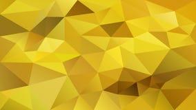 Dirigez le fond polygonal irrégulier - bas poly modèle de triangle - couleur chaude de jaune d'or illustration de vecteur