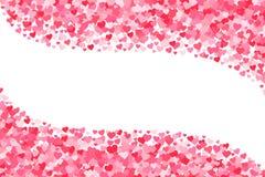 Dirigez le fond rose et rouge de coeurs de jours de valentines illustration libre de droits