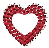Dirigez le fond rouge de coeurs pour le jour du ` s de Valentine Photographie stock