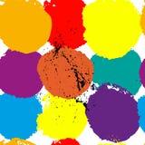 Dirigez le fond sans couture abstrait avec les éléments tirés par la main de peinture Photo libre de droits