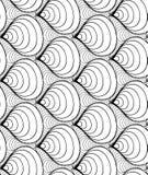 Dirigez le fond sans couture de vague des lignes tracées par griffonnage Image stock