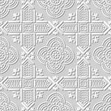 Dirigez le fond sans couture 156 Dot Geometry croisé de modèle d'art du papier 3D de damassé illustration libre de droits