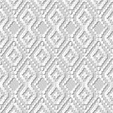 Dirigez le fond sans couture 256 Dot Line Cross Check de modèle d'art du papier 3D de damassé Images libres de droits