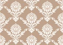 Dirigez le fond sans joint de configuration de damassé Ornement démodé de luxe classique de damassé, victorian royal sans couture Photos stock