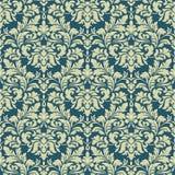 Dirigez le fond sans joint de configuration de damassé Ornement démodé de luxe classique de damassé, victorian royal sans couture Image libre de droits