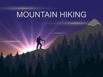 Dirigez le fond sur le thème de s'élever, augmentant, trekking, alpinisme illustration stock