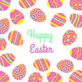Dirigez le freme heureux de Pâques avec les oeufs et le lettrage Carte de vecteur de salutation illustration de vecteur