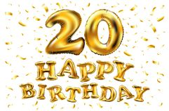 Carte De Vingt Ans De Ballon D Or Du Joyeux Anniversaire 20