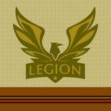 Dirigez le logo avec une photo d'un aigle légion Images stock
