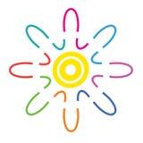 Dirigez le logo coloré abstrait, symbole d'harmonie, icône de Web illustration libre de droits