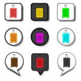 Dirigez le logo d'illustration d'icône pour la valise de symboles réglés avec le lugg Photographie stock