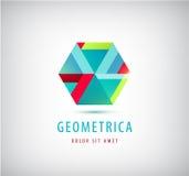 Dirigez le logo moderne géométrique abstrait, icône de société Images libres de droits