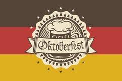 Dirigez le logo pour Oktoberfest dans le bar ou la barre pendant le fest, tasse de bière Illustration Stock