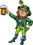 Dirigez le lutin d'elfe avec de la bière pour le jour de St Patrick s illustration stock