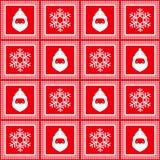 Dirigez le modèle à carreaux sans couture, nouvelle année, Noël, flocons de neige de silhouettes, le père noël illustration de vecteur
