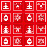 Dirigez le modèle à carreaux sans couture, nouvelle année, Noël, silhouettes des cerfs communs, flocons de neige, le père noël illustration stock