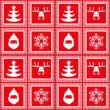 Dirigez le modèle à carreaux sans couture, nouvelle année, Noël, silhouettes des cerfs communs, flocons de neige, le père noël illustration libre de droits