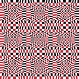 Dirigez le modèle abstrait 3d, fond sans couture rouge de la géométrie de hippie de la géométrie de couleur Images stock