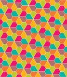Dirigez le modèle coloré sans couture moderne de la géométrie, pentagone de fleurs illustration stock