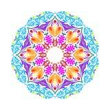 Dirigez le modèle floral de mandala pour le fond ou la carte postale Illustration Stock