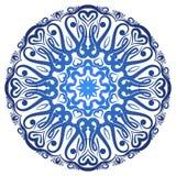 Dirigez le modèle floral de mandala pour le fond ou la carte postale Illustration Libre de Droits