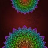 Dirigez le modèle floral de mandala pour le fond ou la carte postale Illustration de Vecteur