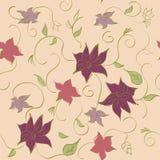Dirigez le modèle floral sans couture avec la fleur, illustration de dessin de vecteur Image libre de droits