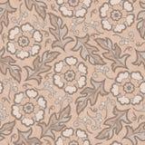 Dirigez le modèle floral sans couture avec les fleurs de floraison d'imagination Photographie stock libre de droits