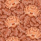 Dirigez le modèle floral sans couture avec les fleurs de floraison d'imagination Image stock