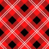 Dirigez le modèle rouge et noir de plaid de tartan pour le fond illustration stock