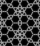 Dirigez le modèle sacré sans couture moderne de la géométrie, résumé noir et blanc Photos stock