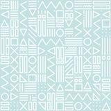Dirigez le modèle sans couture abstrait avec des formes géométriques sur le fond rayé Style de Memphis Images stock