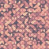 Dirigez le modèle sans couture abstrait avec les triangles aléatoirement colorées Image libre de droits