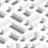 Dirigez le modèle sans couture avec les blocs et les ombres isométriques Fond blanc, éléments blancs Photo libre de droits