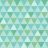 Dirigez le modèle sans couture bleu et vert de répétition de triangle et de texture de feuilles Photo stock