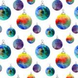 Dirigez le modèle sans couture de boules d'aquarelle avec les elementss tirés par la main Peut être employé pour des pages Web, i Image libre de droits