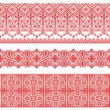 Dirigez le modèle sans couture folklorique national pour des textiles, cartes postales, fond Photo libre de droits