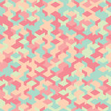 Dirigez le modèle sans couture moderne de cube en géométrie, géométrique abstrait Photographie stock