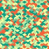 Dirigez le modèle sans couture moderne de cube en géométrie, géométrique abstrait Photographie stock libre de droits