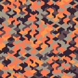 Dirigez le modèle sans couture moderne de cube en géométrie, géométrique abstrait Photo libre de droits