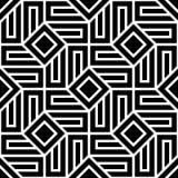 Dirigez le modèle sans couture moderne de la géométrie, résumé noir et blanc Image stock