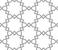 Dirigez le modèle sans couture moderne de la géométrie, résumé noir et blanc Image libre de droits