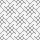 Dirigez le modèle sans couture moderne de la géométrie trippy, ligne géométrique abstraite noire et blanche fond, rayez la rétro  illustration libre de droits