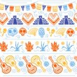 Dirigez le modèle sans couture pour la célébration traditionnelle du Mexique - dia de los muertos Illustration Stock