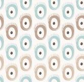 Dirigez le modèle sans couture tribal avec les plumes et les cercles abstraits Photographie stock libre de droits
