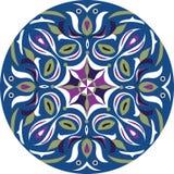 Dirigez le modèle traditionnel oriental de cercle de poisson rouge de fleur de lotus Photographie stock