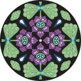 Dirigez le modèle traditionnel oriental de cercle de poisson rouge de fleur de lotus Photos stock