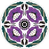 Dirigez le modèle traditionnel oriental de cercle de poisson rouge de fleur de lotus Image stock