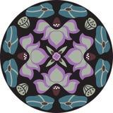 Dirigez le modèle traditionnel oriental de cercle de poisson rouge de fleur de lotus Photo libre de droits